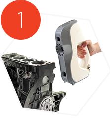Artec Eva 3D Scanning an engine