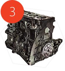 Watertight textured 3D model of an engine block