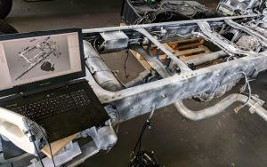3D scanning a truck cab chassis using 3DSL's 3D scanning service