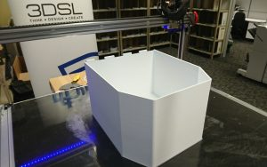 Large format printing of an enclosure for a mining r&d project