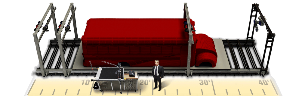 3D Platform Excel Bus Graphic