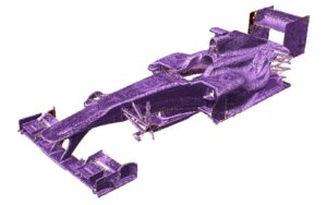 Artec Eva handheld 3d scanner used for racing car body