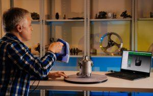 Car compressor 3D scan using Artec Space Spider