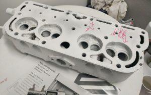 Engine Cylinder Head being prepared for 3DSL's 3D scanning service
